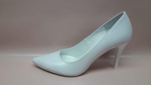 Perłowe buty ślubne na szpilce