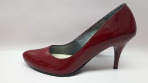 Wizytowe buty damskie bordowe szpilki 186