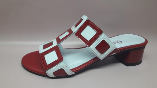 438 czerwony/biały